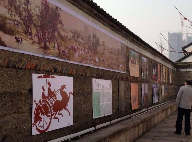 """杭州京杭大运河 """"书福、送福""""过传统中国节"""
